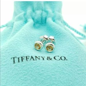 Tiffany & Co by the yard earrings citrine studs